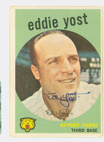 Eddie Yost AUTOGRAPH d.12 1959 Topps #2 Tigers CARD IS VG; CLEAN
