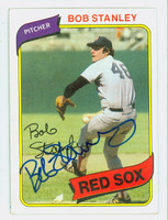 Bob Stanley AUTOGRAPH 1980 Topps #63 Red Sox   [SKU:StanB6970_T80BB]