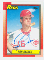 Ron Oester AUTOGRAPH 1990 Topps Reds   [SKU:OestR6275_T90BBND]