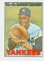 Elston Howard AUTOGRAPH d.80 1967 Topps Yankees CARD IS EX/EX+, CLEAN!  [SKU:HowaE1303_T67BBHC]