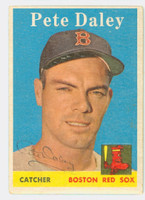 Pete Daley AUTOGRAPH 1958 Topps #73 Red Sox CARD IS EX