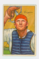 Smoky Burgess AUTOGRAPH d.91 1952 Bowman #112 Phillies CARD IS G-VG, CREASE SIG IS CLEAN  [SKU:BurgS1442_BW52BBHC]