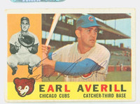 Earl Averill AUTOGRAPH d.15 1960 Topps #39 Cubs CARD IS G-VG, CLEAN SIG  [SKU:AverE7133_T60BBHC]