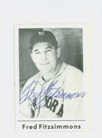 Fred Fitzsimmons AUTOGRAPH d.79 Blank Back Giants   [SKU:FitzF3864_COLLAP]