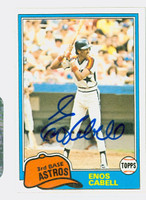Enos Cabell AUTOGRAPH 1981 Topps #45 Astros   [SKU:CabeE3540_T81BBAP]