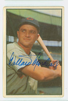 Willard Marshall AUTOGRAPH d.00 1953 Bowman Color #58 Reds CARD IS VG; NO CREASES  [SKU:MarsW314_BW53BBCCC]