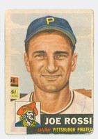 1953 Topps Baseball 74 Joe Rossi Single Print Pittsburgh Pirates Fair to Good
