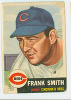 1953 Topps Baseball 116 Frank Smith Cincinnati Reds Poor