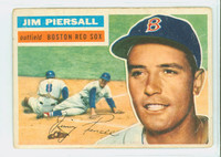 1956 Topps Baseball 143 Jim Piersall Boston Red Sox Fair to Poor