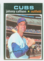 1971 Topps Baseball 12 Johnny Callison Chicago Cubs Excellent to Mint