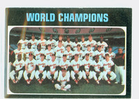 1971 Topps Baseball 1 World Champions Baltimore Orioles Excellent to Excellent Plus