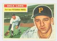 1956 Topps Baseball 56 Dale Long Pittsburgh Pirates Excellent to Mint Grey Back