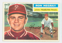 1956 Topps Baseball 7 Ron Negray Philadelphia Phillies Excellent to Excellent Plus Grey Back