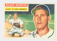 1956 Topps Baseball 27 Nelson Burbrink St. Louis Cardinals Excellent White Back