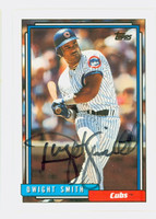 Dwight Smith AUTOGRAPH 1992 Topps Cubs   [SKU:SmitD10599_T92BBAP]