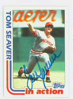 Tom Seaver AUTOGRAPH 1982 Topps In Action Reds   [SKU:SeavT1202_T82BBIAAP]