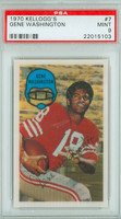 1970 Kellogg Football 7 Gene Washington San Francisco 49ers PSA 9 Mint