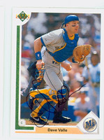Dave Valle AUTOGRAPH 1991 Upper Deck Mariners   [SKU:VallD10626_UD91BBHC]