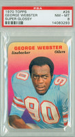 1970 Glossy Football 26 George Webster Houston Oilers PSA 8 Near Mint to Mint