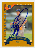 David Espinosa AUTOGRAPH 2002 Topps Tigers TRADED 