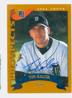 Tim Kalita AUTOGRAPH 2002 Topps Tigers TRADED 
