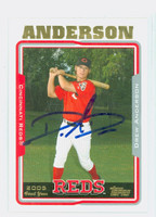 Drew Anderson AUTOGRAPH 2005 Topps Reds   [SKU:AndeD10734_T05BB]