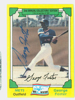 George Foster AUTOGRAPH 1982 Drakes Big Hitters Mets   [SKU:FostG1146_COLLAP]