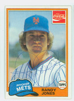 Randy Jones AUTOGRAPH 1981 Topps Coke #4 Mets 