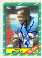 Mike Rozier AUTOGRAPH 1987 Topps Football Oilers   [SKU:RoziM52237_T87FBAP]