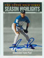 Neifi Perez AUTOGRAPH 1994 Upper Deck Highlight Triple Play Rockies 