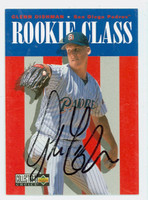 Glenn Dishman AUTOGRAPH 1996 Upper Deck Collectors Choice Rookie Class Padres 