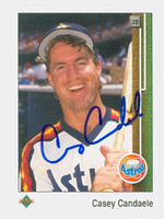 Casey Candaele AUTOGRAPH 1989 Upper Deck Astros 