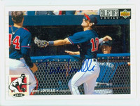 Torey Lovullo AUTOGRAPH 1994 Upper Deck Collectors Choice Angels 