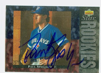 Paul Spoljaric AUTOGRAPH 1994 Upper Deck Star Rookie Blue Jays 