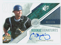 Guillermo Quiroz AUTOGRAPH 2006 Upper Deck SPx 429/999 Mariners CERTIFIED   [SKU:QuirG13064_UD06BBce]