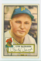 1952 Topps Baseball 218 Clyde McCullough Pittsburgh Pirates Very Good to Excellent