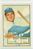 1952 Topps Baseball 239 Rocky Bridges Brooklyn Dodgers Very Good to Excellent