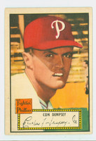1952 Topps Baseball 44 Con Dempsey Philadelphia Phillies Excellent Red Back