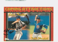 Steve Trachsel AUTOGRAPH 1994 Topps Coming Attractions Cubs   [SKU:TracS13649_T94BB]
