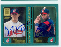 Derek Thompson - Corey Smith DUAL SIGNED 2001 Topps Indians 