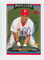 Danny Sandoval AUTOGRAPH 2006 Topps Phillies 