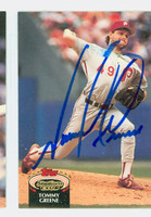 Tommy Greene AUTOGRAPH 1992 Topps Stadium Club Phillies   [SKU:GreeT10347_TPSC92]