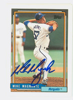 Mike Magnante AUTOGRAPH 1992 Topps Royals   [SKU:MagnM12442_T92BB]