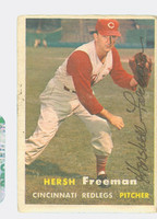 Hershell Freeman AUTOGRAPH d.04 1957 Topps #32 Reds CARD IS F/G  [SKU:FreeH3796_T57BBA2]