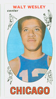 1969 Topps Basketball 22 Walt Wesley Chicago Bulls Very Good to Excellent