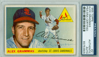 Alex Grammas AUTOGRAPH 1955 Topps #21 Cardinals PSA/DNA CARD IS VG