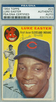 Luke Easter AUTOGRAPH d.79 1954 Topps #23 Indians PSA/DNA CARD IS G/VG; SL BEND, AUTO CLEAN  [SKU:EastL1900_T54BBAPpa]