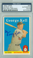 George Kell AUTOGRAPH d.09 1958 Topps #40 Orioles PSA/DNA CARD IS SHARP NMT+