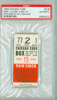 1963 Chicago Cubs Ticket Stub vs Cincinnati Reds Pete Rose 3 HITS - #23-25 - May 15, 1963 PSA/DNA Authentic Slabbed