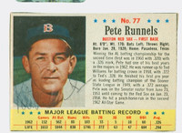 Pete Runnels AUTOGRAPH d.91 1963 Post #77 Red Sox CARD IS EXCELLENT  [SKU:RunnP1879_PO63BBA1]